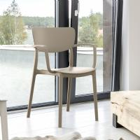 Monna Dining Chair Taupe ISP127-DVR - 5
