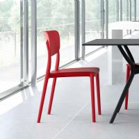 Monna Dining Chair Red ISP127-RED - 6