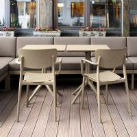 Loft Outdoor Dining Arm Chair Taupe ISP128-DVR - 5
