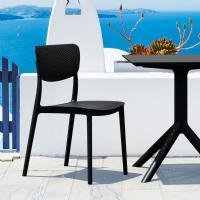 Lucy Outdoor Bistro Set 3 Piece with 24 inch Table Top Black ISP1291S-BLA - 1