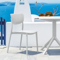 Lucy Outdoor Bistro Set 3 Piece with 27 inch Table Top White ISP1292S-WHI - 1