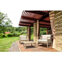 Mykonos Club Chair Taupe with Sunbrella Taupe Cushion ISP131-DVR-CTA - 16