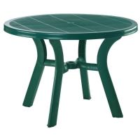 Truva Resin Round Dining Table 42 inch - Dark Green