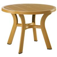 Truva Resin Round Dining Table 42 inch - Cafe Latte