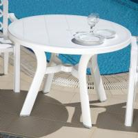 Truva Resin Round Dining Table 42 inch White ISP146-WHI - 1