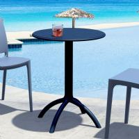 Octopus Outdoor Dining Table 24 inch Round Black ISP160-BLA - 1