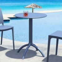 Octopus Outdoor Dining Table 24 inch Round Dark Gray ISP160-DGR - 1