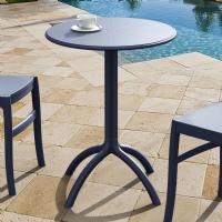 Octopus Outdoor Dining Table 24 inch Round Dark Gray ISP160-DGR - 2