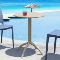 Octopus Outdoor Dining Table 24 inch Round Dove Gray ISP160-DVR - 1