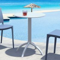 Octopus Outdoor Dining Table 24 inch Round Silver Gray ISP160-SIL - 1