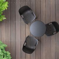 Octopus Outdoor Dining Table 24 inch Round Dark Gray ISP160-DGR - 6