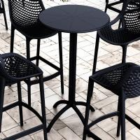 Octopus Bar Table 24 inch Round Black ISP161-BLA - 2
