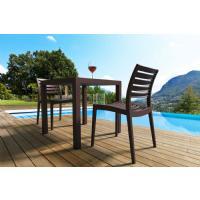 Ares Resin Outdoor Table 31 inch Square Brown ISP164-BRW - 4