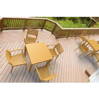 Ares Resin Outdoor Table 31 inch Square Brown ISP164-BRW - 13