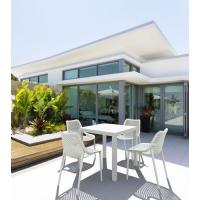 Ares Resin Outdoor Table 31 inch Square White ISP164-WHI - 17