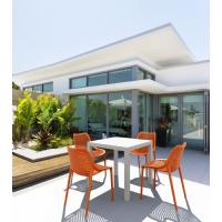 Ares Resin Outdoor Table 31 inch Square White ISP164-WHI - 18