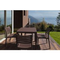 Ares Resin Square Outdoor Dining Set 5 Piece with Side Chairs Brown ISP1641S-BRW - 5