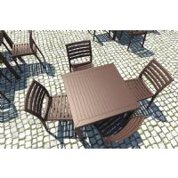 Ares Resin Square Outdoor Dining Set 5 Piece with Side Chairs Brown ISP1641S-BRW - 7