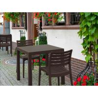 Ares Resin Square Outdoor Dining Set 5 Piece with Side Chairs Brown ISP1641S-BRW - 8