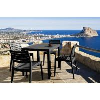 Ares Resin Square Outdoor Dining Set 5 Piece with Side Chairs Brown ISP1641S-BRW - 10