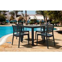 Ares Resin Square Outdoor Dining Set 5 Piece with Side Chairs Brown ISP1641S-BRW - 11