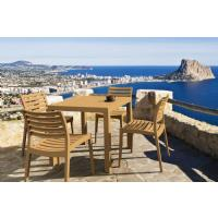 Ares Resin Square Outdoor Dining Set 5 Piece with Side Chairs Brown ISP1641S-BRW - 13