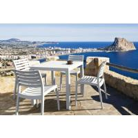 Ares Resin Square Outdoor Dining Set 5 Piece with Side Chairs Brown ISP1641S-BRW - 14