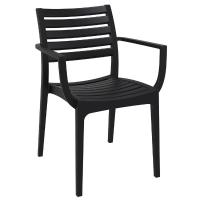 Artemis Resin Square Outdoor Dining Set 5 Piece with Arm Chairs Black ISP1642S-BLA - 1