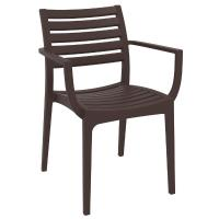 Artemis Resin Square Outdoor Dining Set 5 Piece with Arm Chairs Brown ISP1642S-BRW - 1