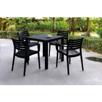 Artemis Resin Square Outdoor Dining Set 5 Piece with Arm Chairs Brown ISP1642S-BRW - 3