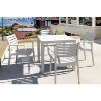Artemis Resin Square Outdoor Dining Set 5 Piece with Arm Chairs Brown ISP1642S-BRW - 8