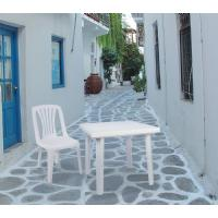Cuadra Resin Square Outdoor Table 31 inch White ISP165-WHI - 1
