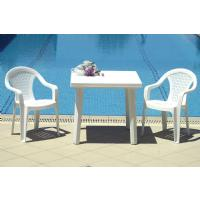 Cuadra Resin Square Outdoor Table 31 inch White ISP165-WHI - 3