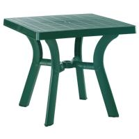 Viva Resin Square Dining Table 31 inch Dark Green