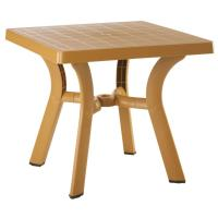 Viva Resin Square Dining Table 31 inch Cafe Latte
