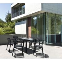 Ares Rectangle Outdoor Table 55 inch Dark Gray ISP186-DGR - 3