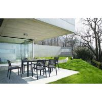 Ares Rectangle Outdoor Table 55 inch White ISP186-WHI - 6