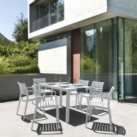 Ares Rectangle Outdoor Table 55 inch White ISP186-WHI - 9
