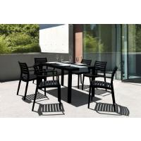 Artemis Resin Rectangle Outdoor Dining Set 7 Piece with Arm Chairs White ISP1862S-WHI - 3
