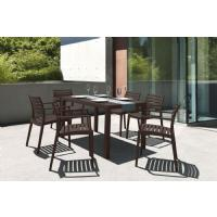 Artemis Resin Rectangle Outdoor Dining Set 7 Piece with Arm Chairs White ISP1862S-WHI - 5