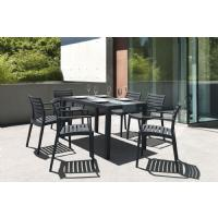 Artemis Resin Rectangle Outdoor Dining Set 7 Piece with Arm Chairs White ISP1862S-WHI - 7