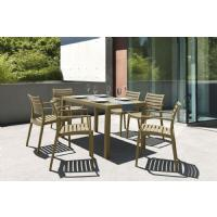Artemis Resin Rectangle Outdoor Dining Set 7 Piece with Arm Chairs White ISP1862S-WHI - 8