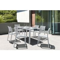 Artemis Resin Rectangle Outdoor Dining Set 7 Piece with Arm Chairs White ISP1862S-WHI - 11
