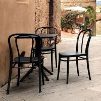 Victor Resin Outdoor Chair Black ISP252-BLA - 6