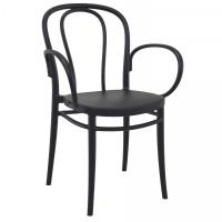 Victor XL Resin Outdoor Arm Chair Black