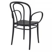 Victor XL Resin Outdoor Arm Chair Black ISP253-BLA - 1