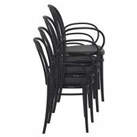 Victor XL Resin Outdoor Arm Chair Black ISP253-BLA - 5