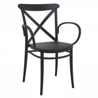 Cross XL Resin Outdoor Arm Chair Black ISP256-BLA