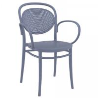 Marcel XL Resin Outdoor Arm Chair Dark Gray