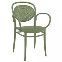 Marcel XL Resin Outdoor Arm Chair Olive Green